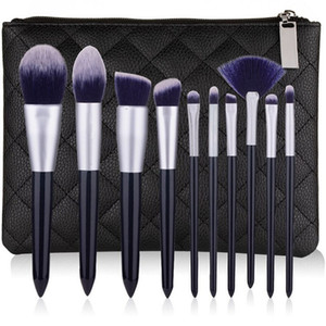 Neues Make-up-Pinsel-Set 10pcs qualitativ hochwertige, professionelle Make-up Pinsel Augenbrauen Lidschatten Pudergrundierung Pinsel-Set Kit Tools bilden.