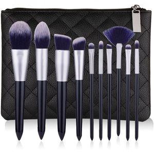 Nuovo set spazzola di trucco 10pcs di alta qualità pennelli trucco professionale fondotinta in polvere sopracciglio ombretto compone la spazzola Kit Tools set.