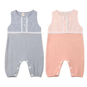 Nouveau-né Emmababy enfants Bébés filles coton lin dentelle Romper Jumpsuit Vêtements Tenues Summer Set