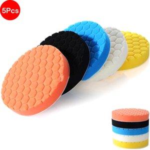 Set 5pcs 3/4/5/6 / 7inch Hexagonal Polished Spong Disc For Car Polisher Paper