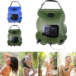 Вода 20L Солнечный дождь мешок Кемпинг душ сумка ПВХ Прочный термометр Исследовать душ мешок воды Удобные Дикого хранения подарков