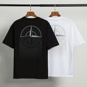 Stone Island 20FW coton desgner T-shirt des hommes T-shirt manches courtes Casual Noir Blanc Respirant T-shirts imprimés Taille M-XXL # 23667