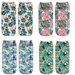 Flamingo Socks New 3D Printing Comf Women's Underwear Underwearortable Polyester Women Durable Socks Cute Low Cut Foot Wax Cartoons Comforta