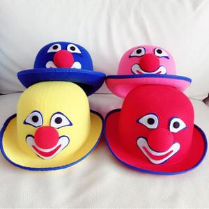Взрослые Circus Clown Hat Cosplay Реквизит Performance головной убор Костюм аксессуар Партия Шляпы