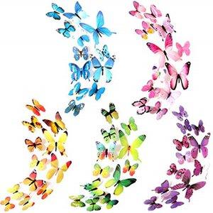 12pcs lot 3D PVC Wall Stickers Magnet Butterflies Wall Sticker Home Decor Kids Room Wall Decoration Butterfly Stickers