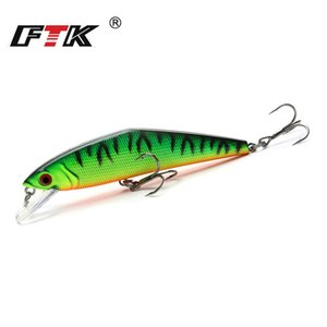 Ftk 1Pc Minnow Fishing Lure Laser Hard Artificial Bait 85Mm 13.5G Sinking Fishing Bass Wobblers Crank Bait Pike Treble Hooks nUyOu
