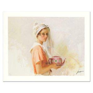 """Pino """"The Gift"""" decorazione domestica dipinta a mano HD Stampa Olio su tela di arte della parete della tela di canapa Immagini 200614"""