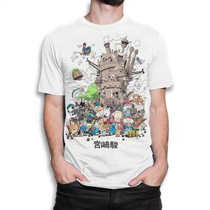 Studio Ghibli Combo Camiseta Hayao Miyazaki Tee Homens Mulheres Todos Os Tamanhos