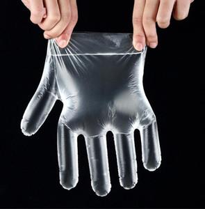 100 pcs=1 sac poly Gants en plastique alimentaire gant jetable gants de nettoyage pour les aliments gras manger bonne qualité PE transparent gants