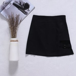 New 2020 Fashion Korean Style Black Package Hip Skirts Irregular Hem Pencil Micro Mini Skirt Good Quality Drop Shipping