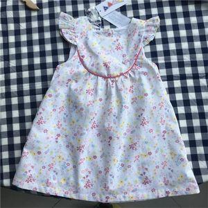 Summer Girls Dresses sweet Toddler ruffles lace sleeve floral Dress Children Sundress Beach Kids Dresses for Girl clothing