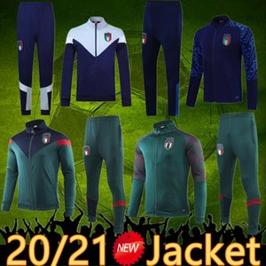 italia tuta di calcio 2020 Italia maglia rivestimento di calcio 19 20 Italia Sportswear Verratti Jorginho Romagnoli italia con cappuccio giacca di calcio