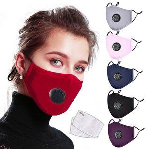 filtro plegable PM2.5 Activado Máscara Carbon estereoscópica diseño de la cara se puede insertar anti-niebla tóxica polvo válvula de respiración - Máscara de algodón PM2.5 prueba