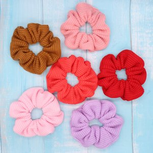 Free shipping Fashion women's piush Elastic Hairbands korea style hair Solid color Scrunchies girl's Hair Accessories