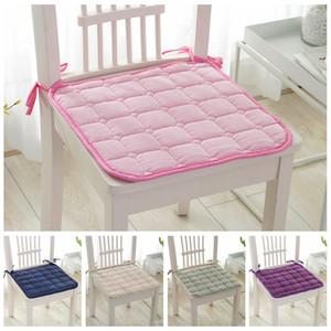 Soft Comfort Mat Seat Seat Pad Патио Сплошной цвет сада площади Крытый Столовая Tie На стул офиса Новые Подушка 39 * 39см VT0232