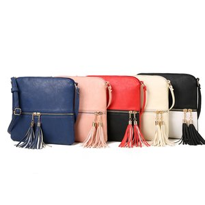 New Tassel Fashion Pu Leather Solid Women Handbags Hotsale Ladies Shopping Bag Casual Shoulder Messenger Crossbody Bags 2019