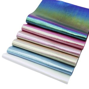 20*34cm Rainbow Plain Color Fabric For Earrings Hair Bows Handbag Making,6Pcs a Set,1Yc5709