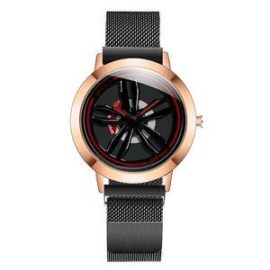 carro esportivo de moda Quartz relógio legal Homens Domineering Casual forma relógio Relógios pneu à prova de água Girar Gyro Relógio de pulso de alta qualidade de luxo