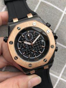 Top Fashion luxury mens orologi Full-Function royal oak orologio Audemars P Silicone Strap orologio svizzero day date orologi montres pour hommes