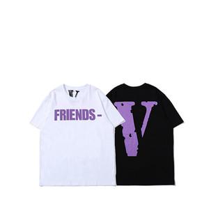 Vlone camiseta hombre mujer alta calidad 100% algodón Hip Hop Top Tees Vlone Friends Vlone ropa de mujer