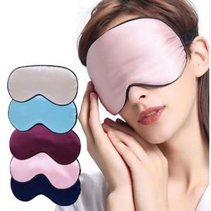 Seta Mascherina Ombra Supple Eye portatile Viaggi Eyepatch traspirante Resto Blindfold Eye copertura Notte mascherina di sonno