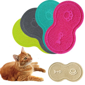 Pet Litter sujeira Mat Cat Food água Areia Catcher Trapper Dish bacia Placemat Pads