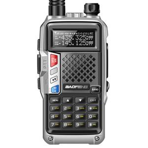 Nueva BAOFENG BF-PLUS UVB3 5W UHF / VHF de banda dual a 10 KM de largo alcance walkie talkie Thickenbattery modo de carga múltiple
