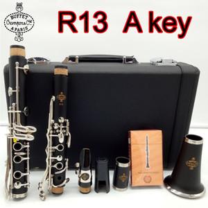 Nouveau Buffet Crampon Clarinet Niveau professionnel Modèle R13 Sandalwood Ebony Bois et Bakelite 2 Style Clarinette Une clé 17 clés