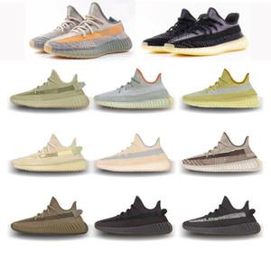 2020 V2 kanye linho sapatos oeste Enxofre cinza cauda reflexivo terra luz pântano mulas sábio do deserto oreos beluga executando tênis com caixa