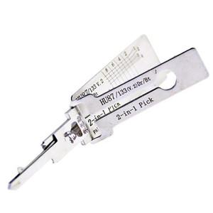 الأصلي HU87 لى شى قفل اختيار أداة 2 في 1 اللقطات باب السيارة السيارات فك إفتح أداة قفل