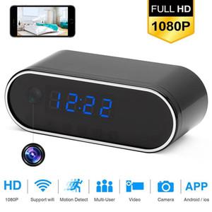 Mini IP de Wifi de la cámara 1080P HD Cámaras CCTV Cámara de alarma Ajuste del reloj de tabla de IR de visión nocturna inalámbrica Wifi reloj de la cámara Mini DVR videocámara