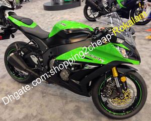 ZX10R carenado fijado para Kawasaki Ninja ZX 10R ZX10R Verde Negro Deportes Moto carenados 2011 2012 2013 2014 2015 (moldeo por inyección)