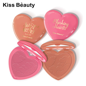 Kiss Fashion Beauty fard à joues Fond de teint poudre 8 couleurs fard à joues Poudre Pressée Palette Meilleur maquillage amour cadeau Sweet Heart Fard Visage Beauté