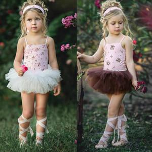 0-4T Kızlar Tutu Etek Çiçek Balesi Romper Tutu Elbise Etek Kız Bebek Yaz Giyim Dans Etekler Mini Elbise