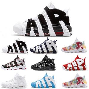 96 QS Olympic Varsity Maroon Больше мужской баскетбольной обуви 3M Scottie Pippen Uptempo Chicago Trainers Спортивный дизайнер Мужские кроссовки Размер 41-46