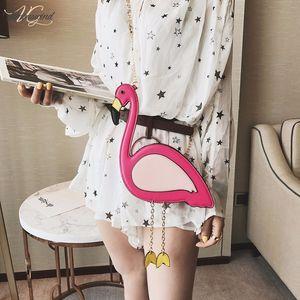 2020 New Woman Cute Girls Flamingo Shape Purse Satchel Crossbody Shoulder Bag Messenger Handbag Drop Shipping