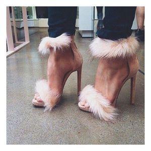 Rosa rojo gris piel desnuda mujeres vestido de verano sandalias damas zapatos de fiesta tacón alto moda sandalias de la boda calle gato caminar zapatos zapato