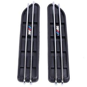 2pcs Air Flow Fender Side Vent Mesh наклейки Hole решетка для BMW E60 E61 E39 E34 M3 E46 M5 E90 C / 5