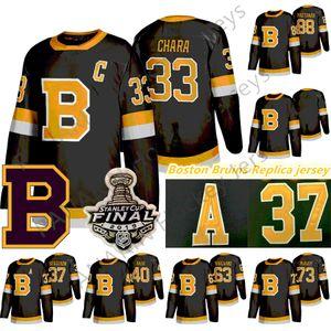 2020 Boston Bruins Hockey 33 Zdeno Chara 8 Cam Neely 88 David Pasterrnak 63 Brad Marchand Charlie McAvoy 74 Jake Debrusk Jerseys
