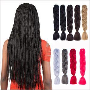 40 순수한 색깔로 새로운 디자이너 큰띠 24inchs 패션 아프리카 컬 뜨거운 머리 연장 슈퍼 합성 방직 Marely 띠