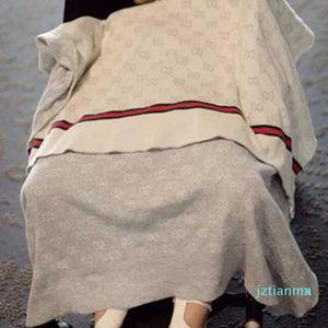 INS Baby Blanket Luxury Summer Quality Blanket Summer Beach Carpet Beige Knitting Blanket For Baby 90*120CM