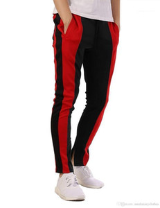 Moda Giyim Pantolon Spor Mens Casual Genç Pantalones Renkler Patchwork Tasarımcı koşucu Pantolon