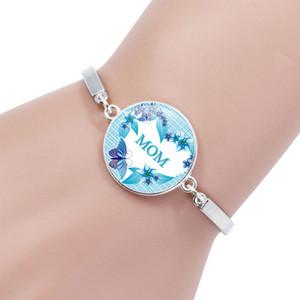 Bracelete de cartas da mãe. Bracelete De Vidro Da Jóia. Presente Do Dia da mãe. Pulseira Popular para mulheres.