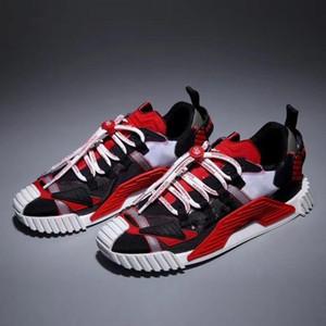 Diseñador de zapatos Hombres Mujeres Zapatos Casual manera de la plataforma DAYMASTER zapatillas de deporte de estiramiento-jersey zapato detrás de piel Chaussures Z9