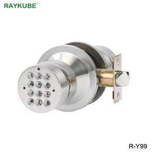 RAYKUBE d'entrée sans clé de verrouillage électronique numérique Bouton de verrouillage de porte Mot de passe code de déverrouillage pour Bureau Salle de sécurité Porte R-Y99 Y200407