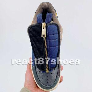 Nuovo 1s scarpa bassa Travi Cactus Jack Triple Nero Mens all'aperto per le donne progettista Prelievi Bianco Blu Casual Shoes Size 36-45