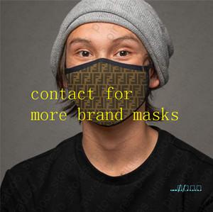 Maschere lavabile traspirante maschera di protezione di stampa delle donne degli uomini unisex Sunproof antipolvere Ciclismo Sport Outdoor Bocca Maschere D41006