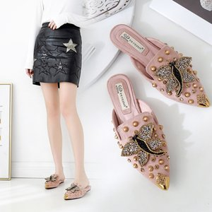 Fascinating2019 Dragonfly Sharp Autumn Buckle Collocation Baotou Bottom Bottom Ban Tuo Scarpe da donna