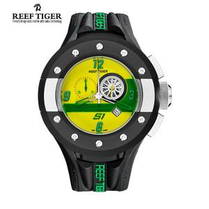 Reef Tiger / RT Мужские спортивные хронографы Часы с циферблатом на приборной панели Кварцевые часы с датой и секундомером RGA3027