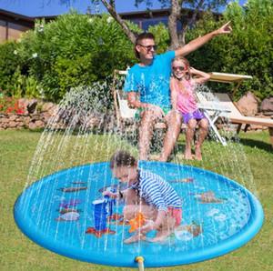 170см Kids Play Матс Yard Открытый Надувные Спринклерные колодки Fun Распыление воды Mat Брызги воды Матс малышей Детские бассейн для вечеринок